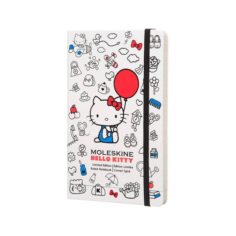 Записник Moleskine Hello Kitty середній / Лінійка Білий