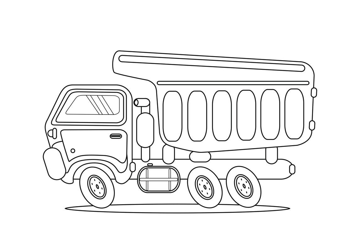 Вантажівка. Розмальовка