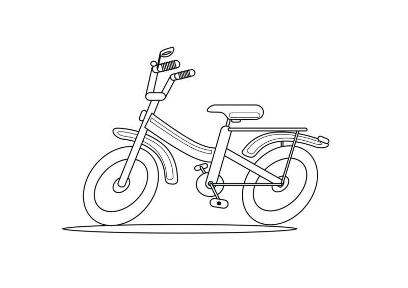 Велосипед. Розмальовка